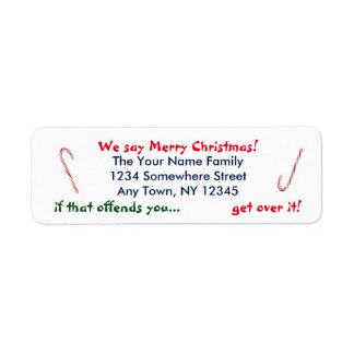 We Say Merry Christmas Label