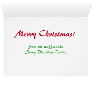 We See You When You're Sleeping Christmas Card