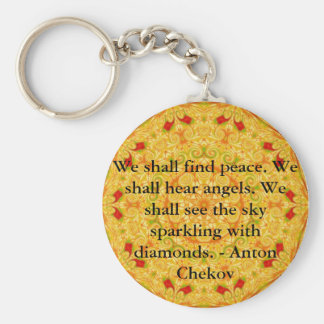 We shall find peace. We shall hear angels......... Basic Round Button Keychain