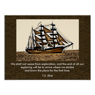 We shall not cease -- art print - T.S Eliot quote