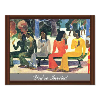 We Shall Not Go To The Market Today,  By Gauguin 4.25x5.5 Paper Invitation Card