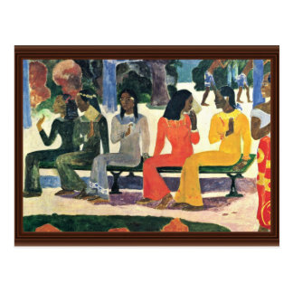 We Shall Not Go To The Market Today,  By Gauguin Postcard