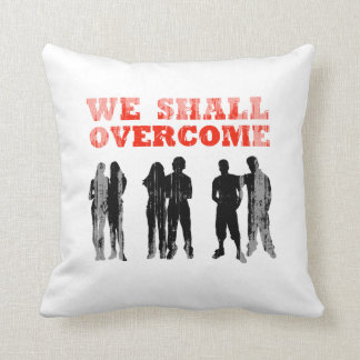 We Shall overcome Faded png Throw Pillow