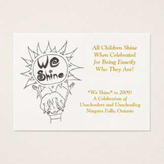 We Shine Business Cards