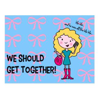 We Should Get Together Postcard