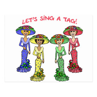 We sing a label 2 postcard