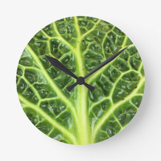 We singing Kohl Savoy cabbage berza chou vert Round Clock