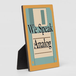❝We Speak Analog❞ Vintage Technology Personalized Plaques