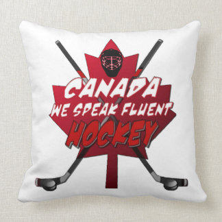 We Speak Fluent Hockey Canada Humor Pillow