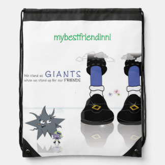 'We Stand as Giants' Drawstring Backpack