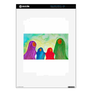 We Stay Together Waldorf Inspired Watercolor Skin For The iPad 2