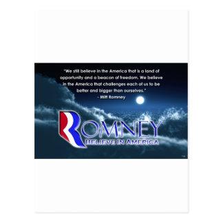 """""""We Still Believe..."""" - Romney 2012 Postcard"""