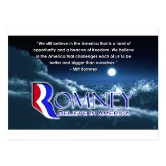 """We Still Believe..."" - Romney 2012 Postcards"