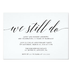 anniversary invitations zazzle