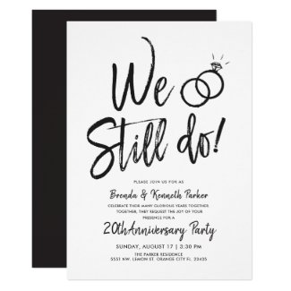 We Still Do Anniversary | Vow Renewal Script Invitation