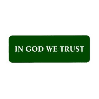 WE STILL TRUST LABEL