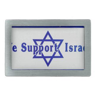 We Support Israel Belt Buckle