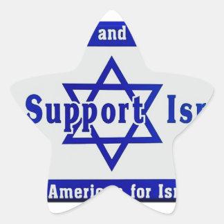 We Support Israel Star Sticker