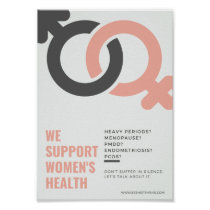 We support women's health workplace poster