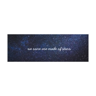 We Sure ploughs made of Stars Canvas Print