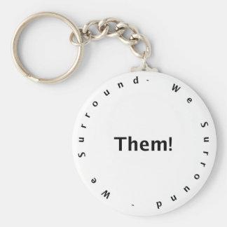 We Surround Them Basic Round Button Keychain