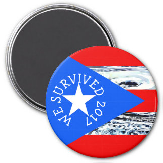 We Survived 2017 Hurricanes Puerto Rico magnet