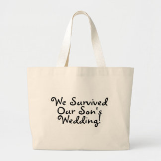 We Survived Our Sons Wedding Canvas Bags