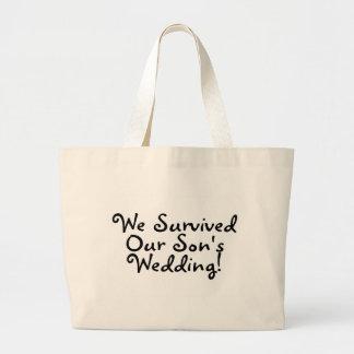 We Survived Our Sons Wedding (Black) Bag