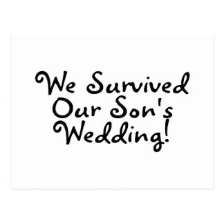 We Survived Our Sons Wedding Postcard