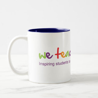 We Teach Science Donation Gift* Two-Tone Coffee Mug
