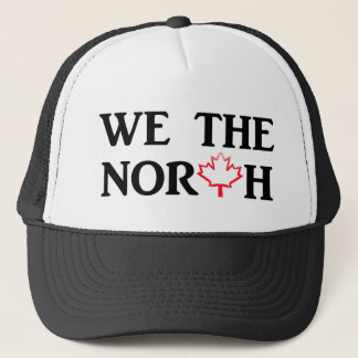 We the North with Red Maple Leaf Trucker Hat