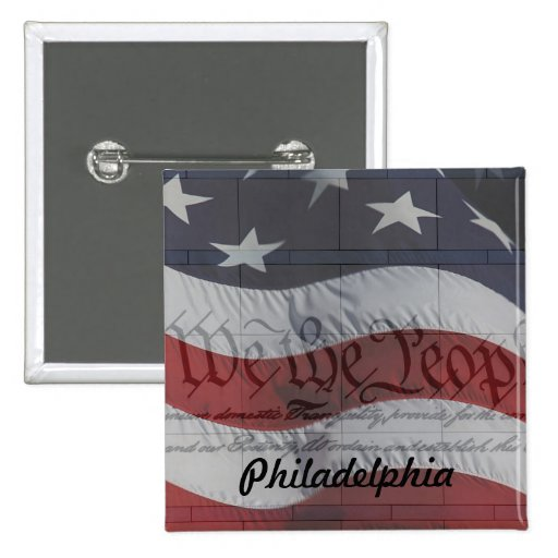We the People 2 Inch Square Button