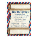 """We the People 4th of July Party Invitations 5"""" X 7"""" Invitation Card"""