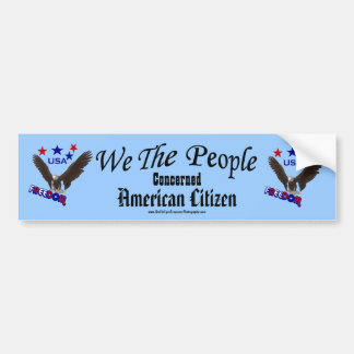 We The People American Citizen Bumper Sticker
