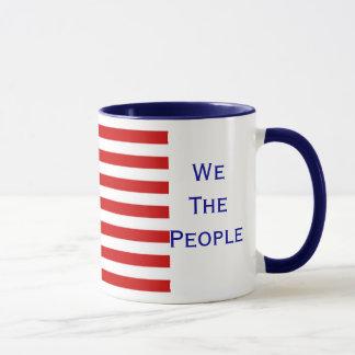 We The People American Citizenship Flag Mug