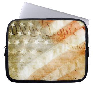 We the People American Flag Laptop Computer Sleeve