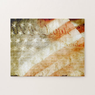 We the People American Flag Puzzle