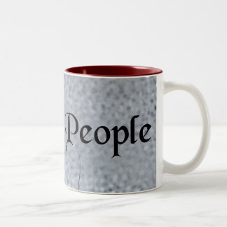 We The People Antique Font on Granite Mugs