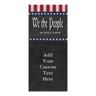 We the People Are Coming In November Rack Card
