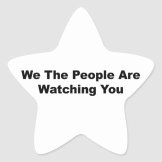 We The People Are Watching You Star Sticker
