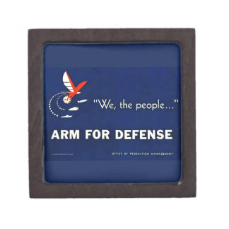 We the People Arm for Defense Vintage World War II Premium Gift Boxes