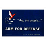 We, the people...Arm for Defense - Vintage WWII Posters