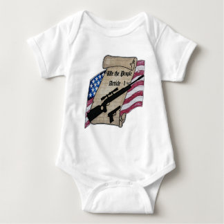 ( We The People ) Article 1 2nd Amendment Guns and Baby Bodysuit