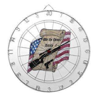 ( We The People ) Article 1 2nd Amendment Guns and Dart Board