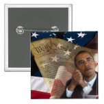 We the People...Barack Obama & the Constitution 2 Inch Square Button