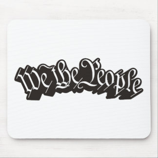 We The People (Black)) Mouse Pad