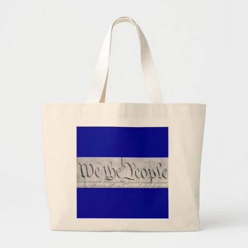 We The People Black n White Jumbo Tote Bag