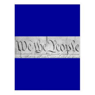 We The People Black n White Postcard
