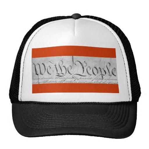 We The People Black n White Trucker Hat