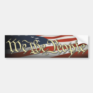 We The People Car Bumper Sticker